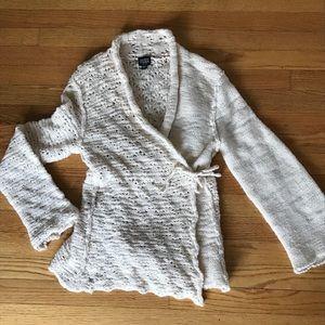 Eileen Fisher wrap cardigan, PS